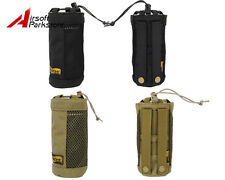 LooYoo Tactical 1050D Cordura Molle Water Bottle Pouch Bag 2 Colors Black/Tan