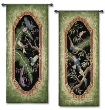 EXOTIC BIRDS TROPICAL PARADISE PALM ART TAPESTRY WALL HANGING