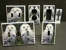 BEAUTIFUL SNOW OWL   HOME DECOR LIGHT SWITCH COVER PLATE OR OUTLET
