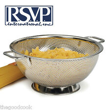 RSVP Cooks Illustrated #1 Top Rated 18/8 Stainless Steel Colander  2 Sizes  New