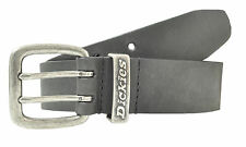 Dickies Genuine Black Leather Double Prong Belt - New- Size 34 - 44