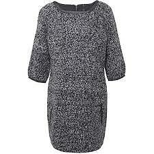 Womens Ladies Firetrap Lama Tweed Wool Mix Dress in charcoal Grey