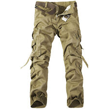 Men's Military Army Cargo Camo Combat Work Pants Casual Trousers R48 no belt