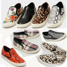 Slip On Flats Sneakers Women's Shoe Girls Casual Loafer Low Top Classic Trainers
