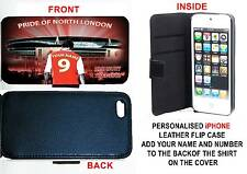 PERSONALISED UNOFFICIAL ARSENAL IPHONE PU LEATHER CASE