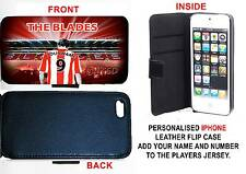 PERSONALISED UNOFFICIAL SHEFFIELD UNITED IPHONE PU LEATHER CASE