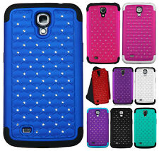 For Samsung Galaxy Mega 6.3 HYBRID IMPACT Dazzling Diamond Case Phone Cover