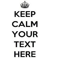Keep Calm YOUR TEXT Personalised t shirt iron on transfer custom free post