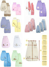 NEW SLUMBERSAC BABY SLEEPING BAG 0-6, 6-18 & 12-36 M. 2.5 TOG BNWT. 12 DESIGNS.