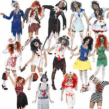 Adult Halloween Fancy Dress Outfit Zombie Ladies Costume and Tights New Horror