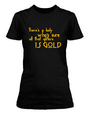 LED ZEPPELIN Stairway to Heaven LYRIC WOMENS T-SHIRT ALL SIZES