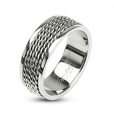 316L Stainless Steel Men's Wire Center Band Ring Size 9-14