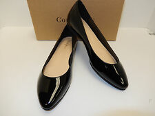 NEW COLE HAAN JULIANA SKIMMER II BLACK PATENT LEATHER SKIMMERS W/ MAN MADE SOLE