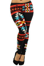 AZTEC NATIVE MULTI ankle legging tights pants Cotton PLUS L XL 1XL 2XL 3XL