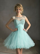 2014 A Line New Homecoming Dresses Beaded Short Cocktail Party Prom Light Blue