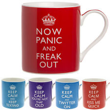 KEEP CALM AND CARRY ON MUG COFFEE CUP TEA MUGS FUN GIFT OFFICE NOVELTY SET NEW
