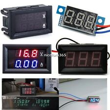 LED Panel Meter DC 3V To 30V DC 0-100V 10A Dual Digital Voltmeter Ammeter N4U8