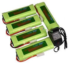 5x 7.2V 3800mAh Ni-MH Rechargeable Battery Pack+Charger