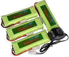 4x 7.2V 3800mAh Ni-MH Rechargeable Battery Pack+Charger