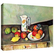 Paul Cezanne 'Still Life with Milk Jug and Fruit' Gallery-Wrapped Canvas Art