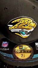 "Jacksonville Jaguars NFL New Era 59Fifty Black ""Onfield"" Fitted Hat New"