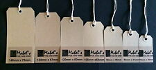 100 x Q-Connect Brown Buff Manilla Strung Gift Tags Tie On Luggage Craft Labels