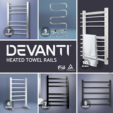 NEW Stainless Steel Electric Heated Towel Rail Rack Bathroom Hand Bar Warmer