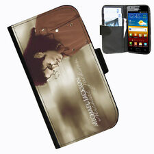 Michael Jackson Protective Leather wallet phone case for samsung galaxy s2