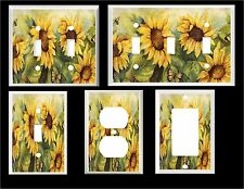 SUNNY SUNFLOWERS BUTTERFLY IMAGE HOME DECOR  LIGHT SWITCH COVER PLATE OR OUTLET