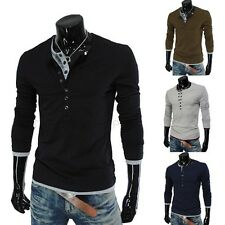 Jeansian Fashion Mens T-Shirts Top Tee Slim Fit Dress Casual 4 color 4 size D414