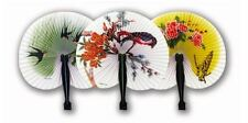 CHINESE PAPER FOLDING HAND FANS FLORAL ORIENTAL FANCY DRESS PARTY BAG FILLER