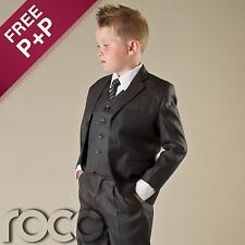 Boys Grey Suit 5 Piece Communion Formal Prom Suits, Wedding Suits 1 - 12 Years