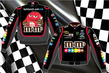2014 Kyle Busch Nascar Jacket M&M's Mens Black Twill Nascar Jacket