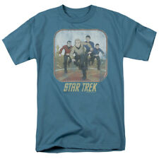 Star Trek The Animated Series Running Kirk Cartoon Crew Vintage Style T-Shirt