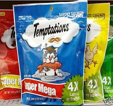 Whiskas Temptations Super Mega Treats Cats Crunchy Inside Soft Outside ~Pick One