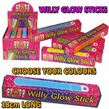Big Willy Penis Shaped Neon Glow Sticks Hen Stag Night Club Party Accessories