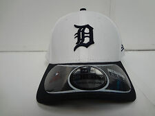 Detroit Tigers Cap New Era 39Thirty Stretch Fit Fitted Hat DE White CR MLB
