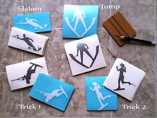 2014 Waterski Slalom Trick or Jump Vinyl Decals for Car Window Laptop Ski