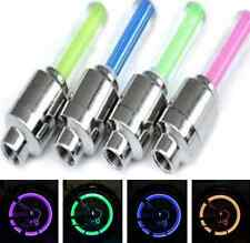 Bike cool Car Tire Tyre Wheel Valve Caps LED Flas Light Neon Lamp Night 4 Colors