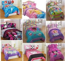 4pc Girls TWIN COMFORTER + SHEETS SET Childs Bed Room Disney TV Characters Sheet