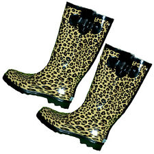 Leopard Print Design Gumboots Size 6 7 8 10 11 Wellies Ladies Boots *New*