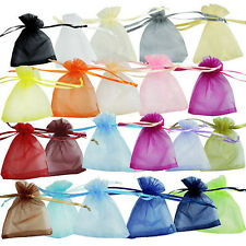 12/25/50/100pcs 2.7x3.5 Inch Organza Jewelry Wedding Gift Pouch Bags G3