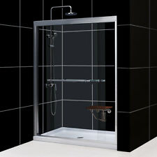 DreamLine Duet Bypass Sliding Shower Door and 32x60-inch Shower Base