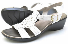 Clarks Bendables ELLA CHAMBER White Slingbacks Sandals Women's - NEW - 60525