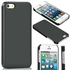 Ultra Slim 100% Clear Plastic Hard Case Cover For iPhone 5 5S & Screen Protector