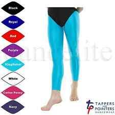 NEW FOOTLESS TIGHTS/LEGGINGS TAP/JAZZ/DANCE/GYM SHINY LYCRA CHILD/JUNIOR & ADULT