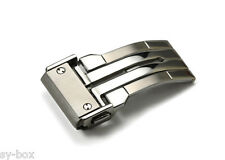 22mm Boucle en état brossé / Polished Deployment Buckle Clasp for Hublot Mens