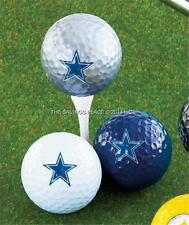 SET OF 3 NFL FOOTBALL TEAM GOLF BALLS FULL COLOR TEAM LOGO IMPRINT-11 TEAMS