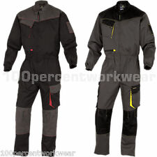 Delta Plus DMCOM Mens Work Overalls Boiler Suit Coveralls Knee Pockets Mechanics