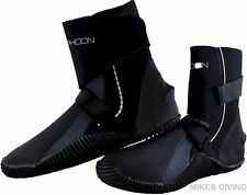 P5 WRAP BOOTS - TYPHOON 5mm large calf wetsuit neoprene diving SIZE 4 - 12 UK